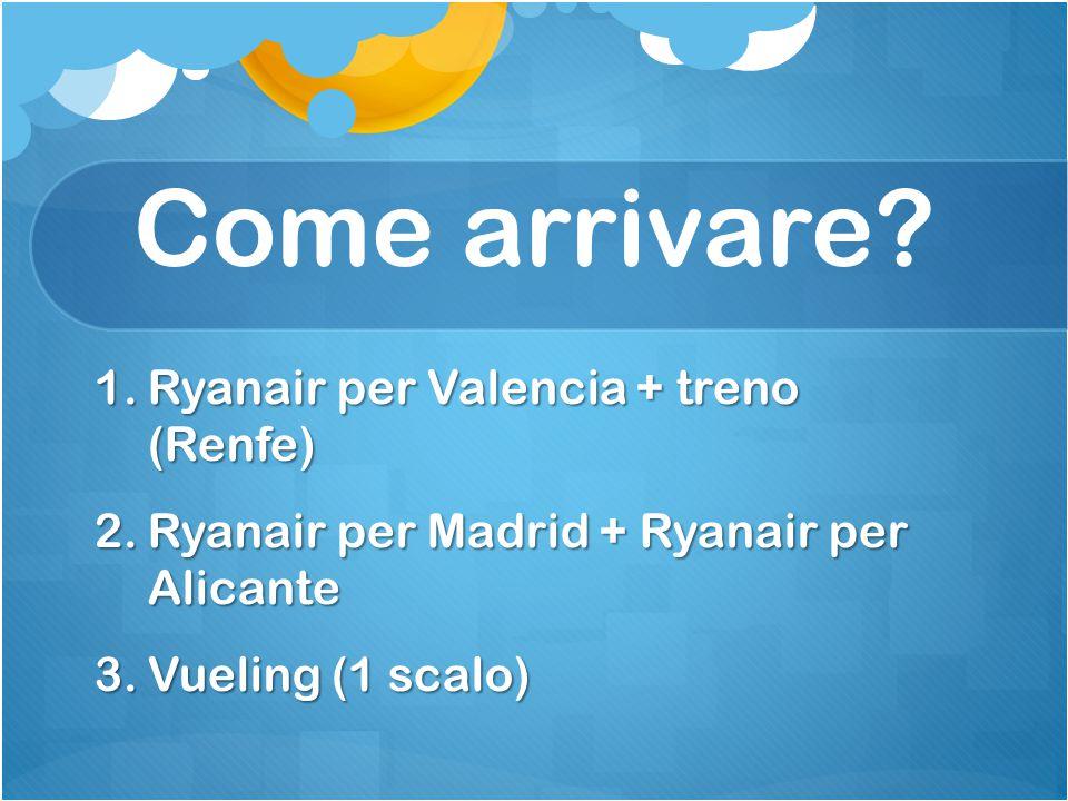 Come arrivare Ryanair per Valencia + treno (Renfe)