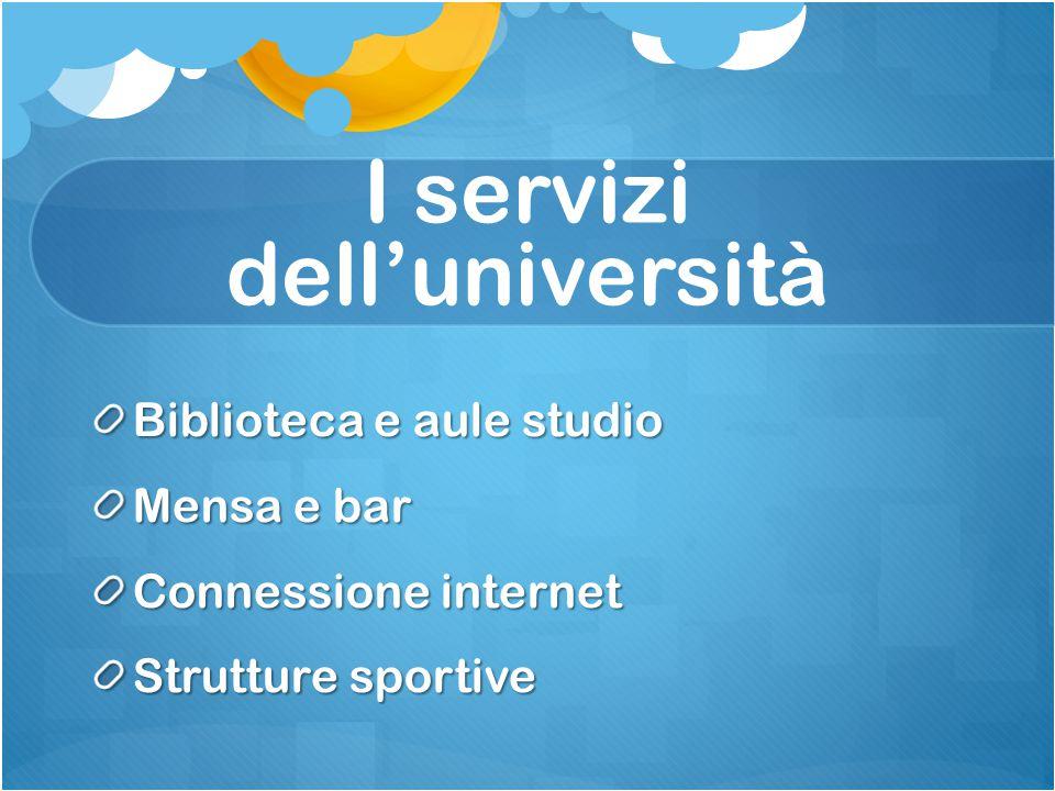 I servizi dell'università
