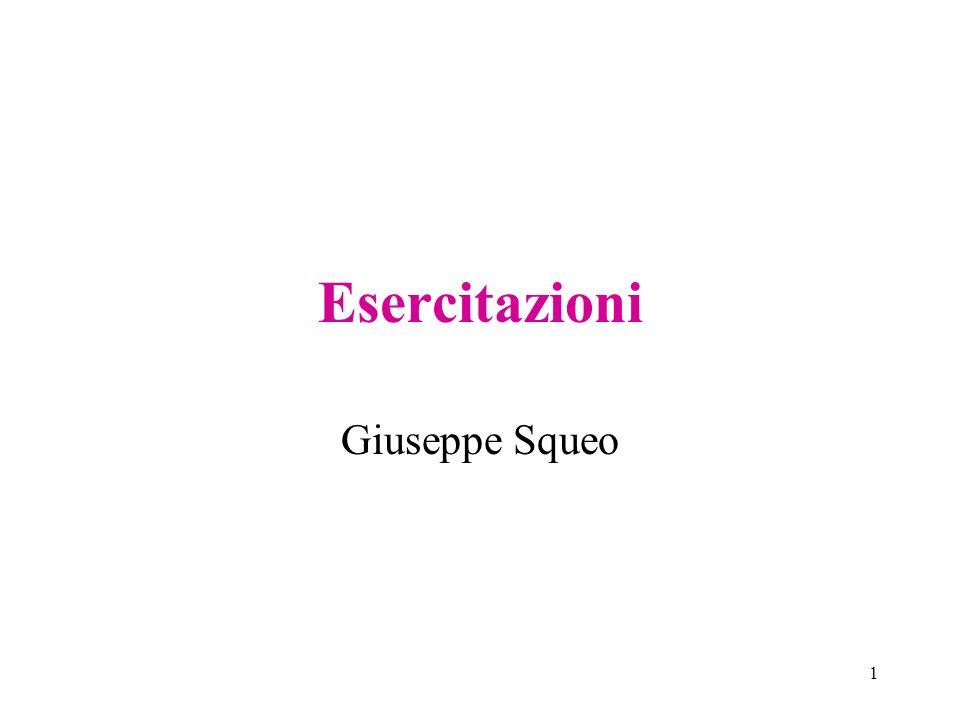 Esercitazioni Giuseppe Squeo