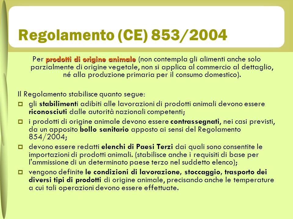 Regolamento (CE) 853/2004