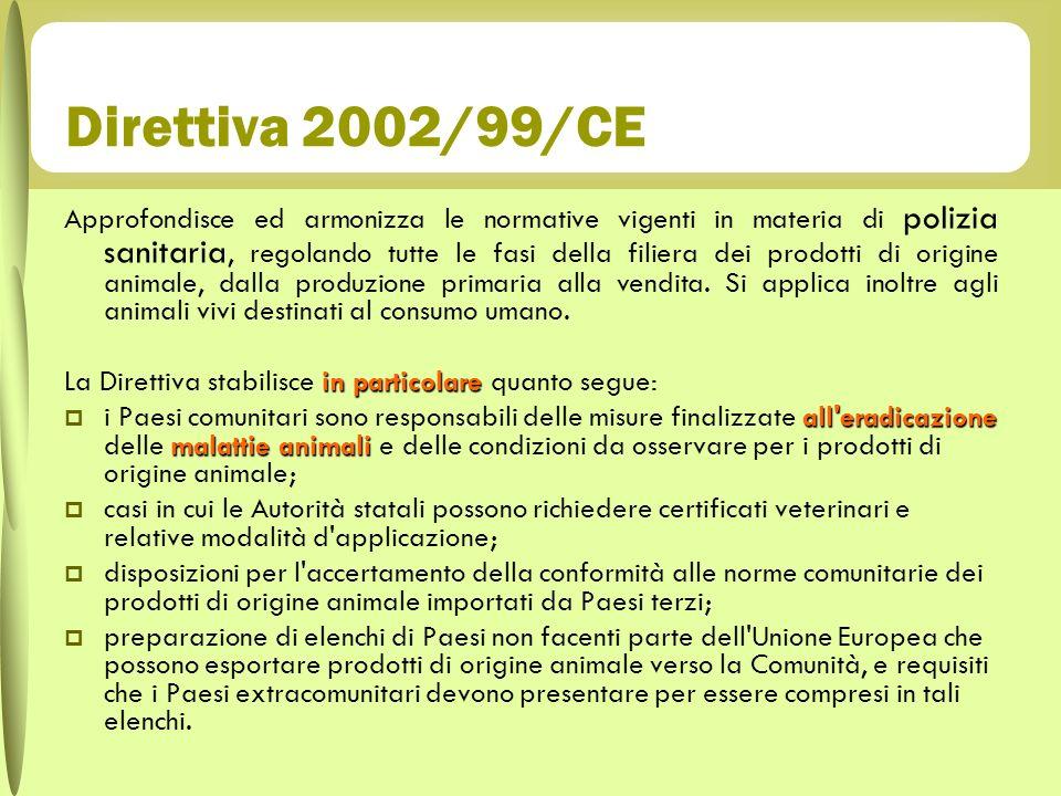 Direttiva 2002/99/CE