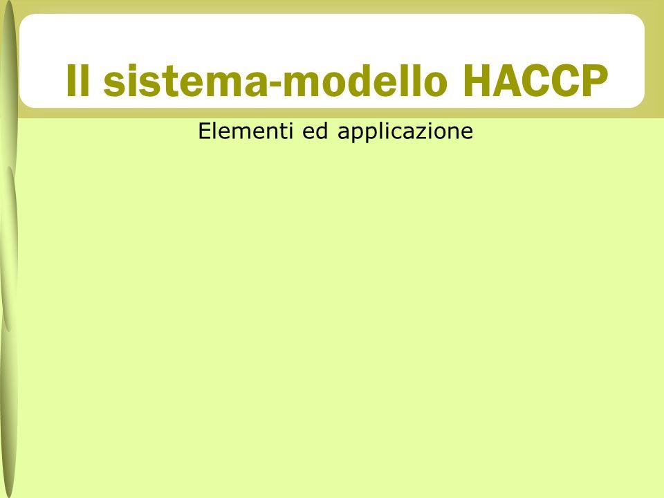 Il sistema-modello HACCP