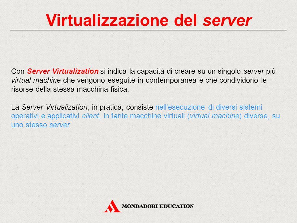 Virtualizzazione del server