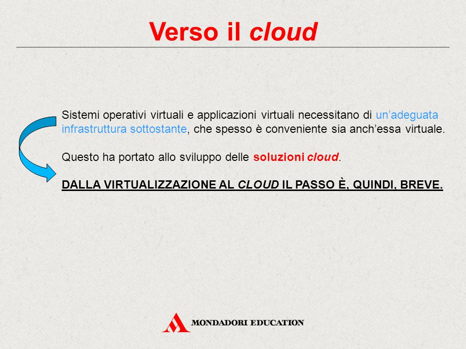 Verso il cloud