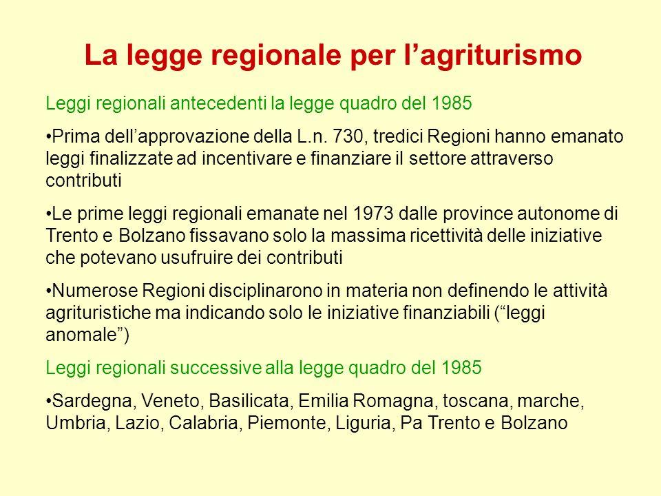 La legge regionale per l'agriturismo
