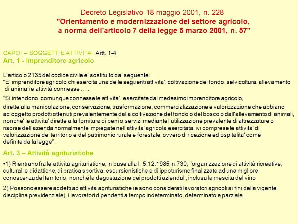 Decreto Legislativo 18 maggio 2001, n. 228