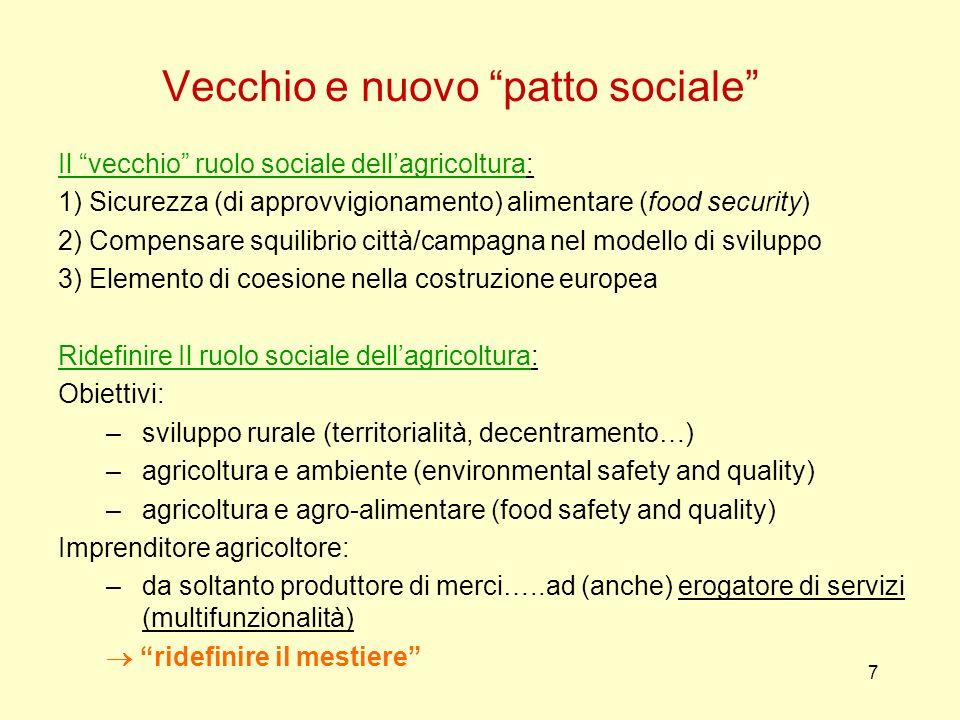 Vecchio e nuovo patto sociale