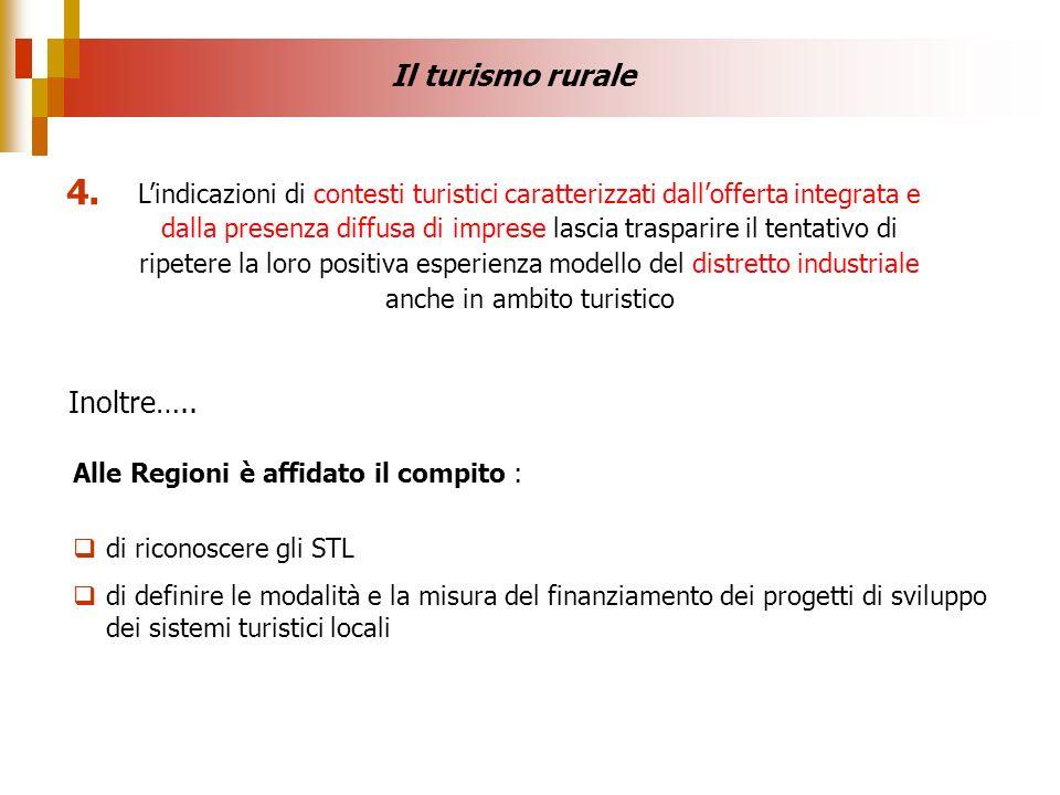 4. Il turismo rurale Inoltre…..