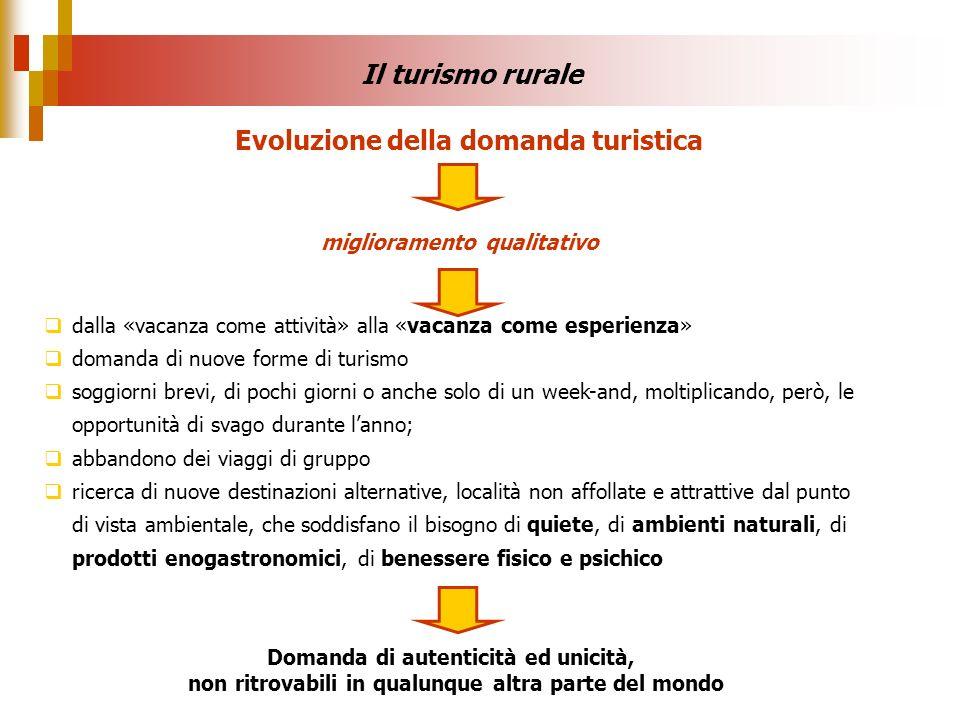 Evoluzione della domanda turistica miglioramento qualitativo