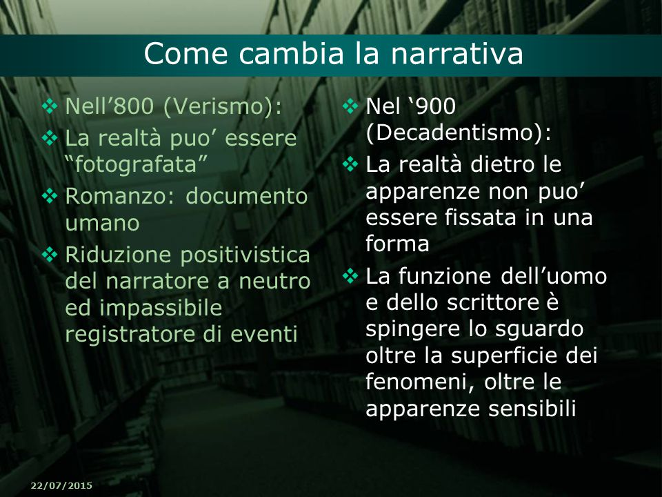 Come cambia la narrativa
