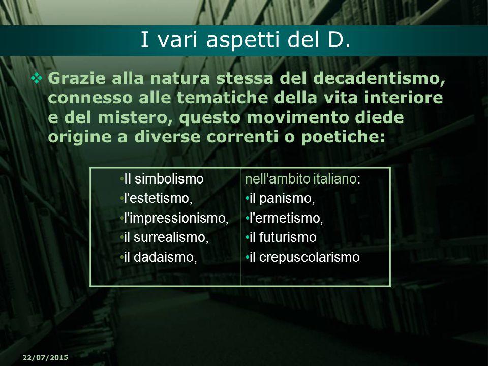 I vari aspetti del D.