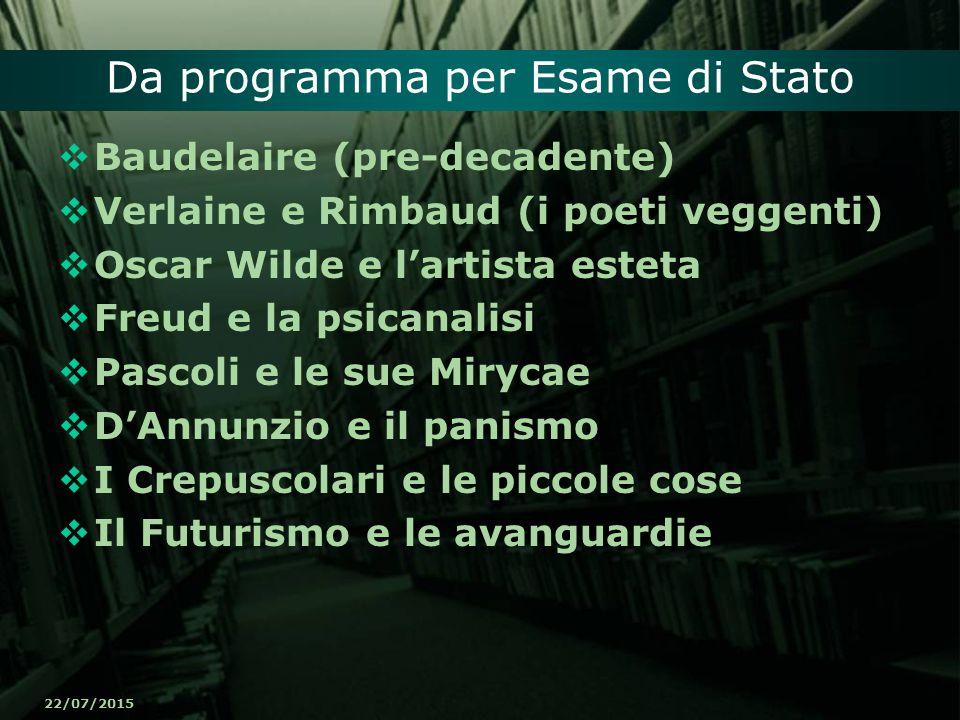 Da programma per Esame di Stato