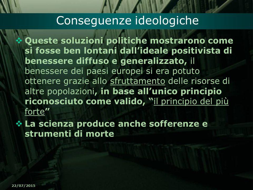 Conseguenze ideologiche