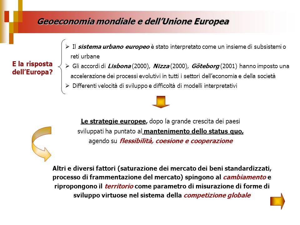 Geoeconomia mondiale e dell'Unione Europea E la risposta dell'Europa