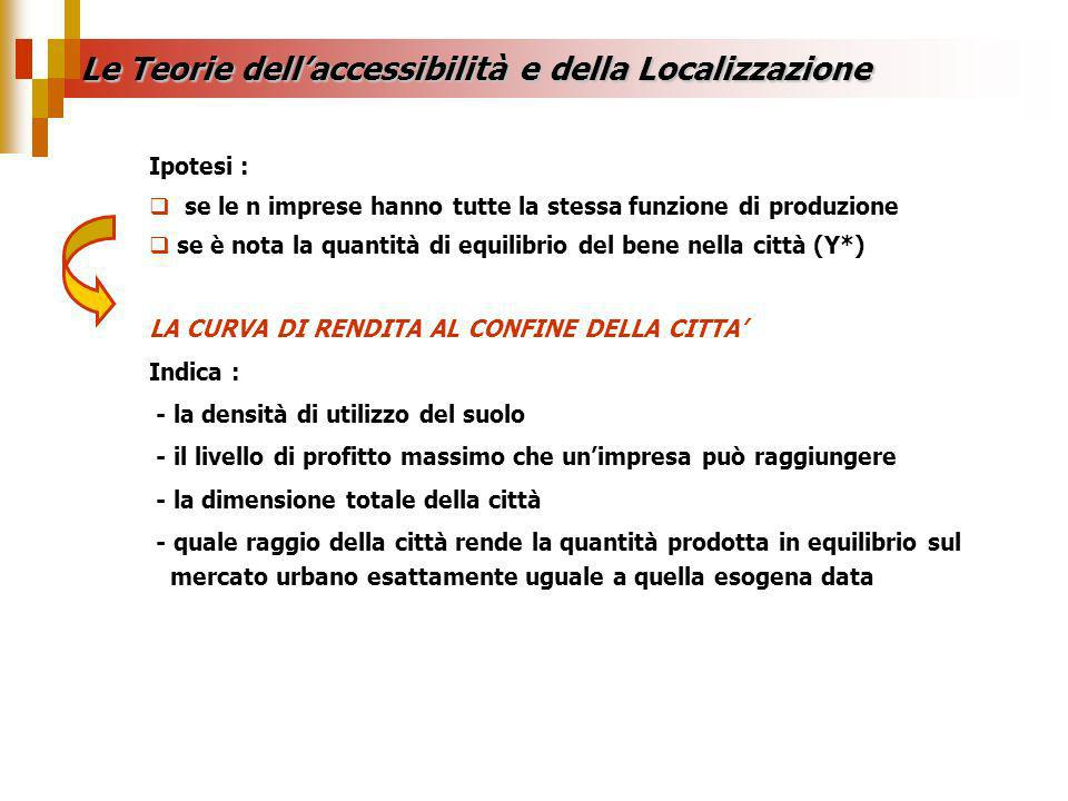 Le Teorie dell'accessibilità e della Localizzazione