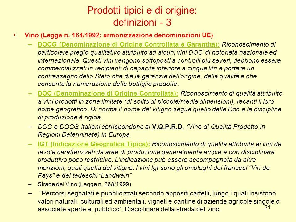 Prodotti tipici e di origine: definizioni - 3
