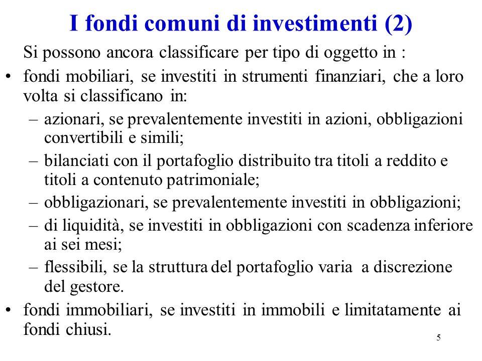 I fondi comuni di investimenti (2)