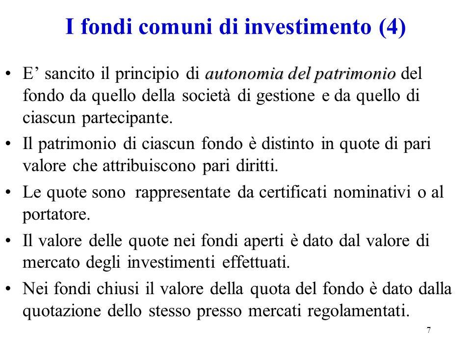 I fondi comuni di investimento (4)