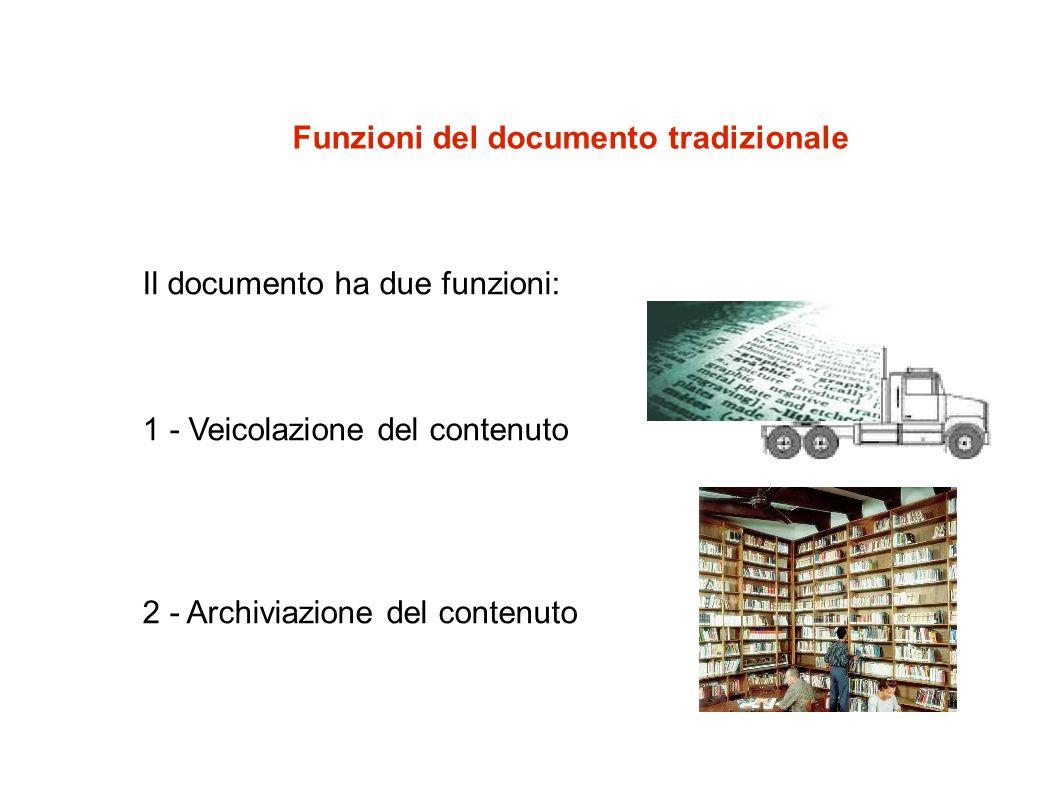 Funzioni del documento tradizionale