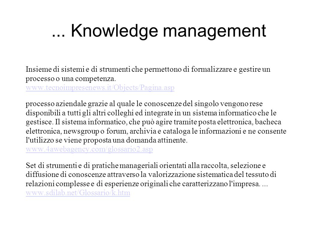 ... Knowledge management