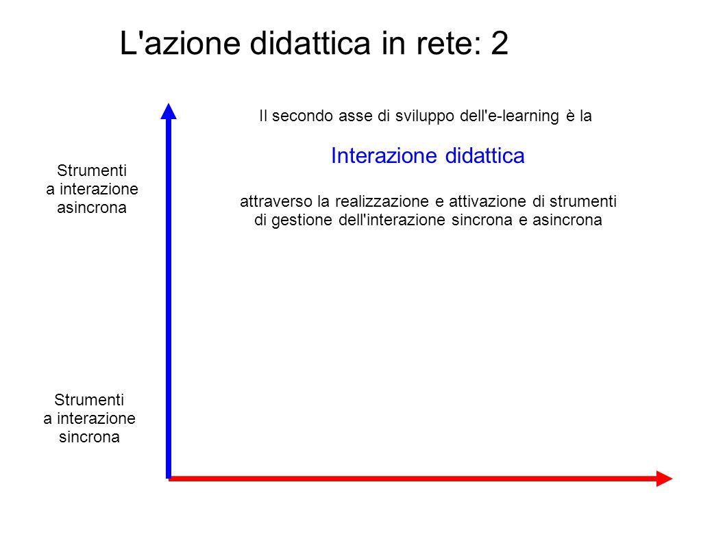 L azione didattica in rete: 2