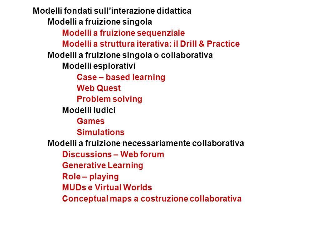 Modelli fondati sull'interazione didattica