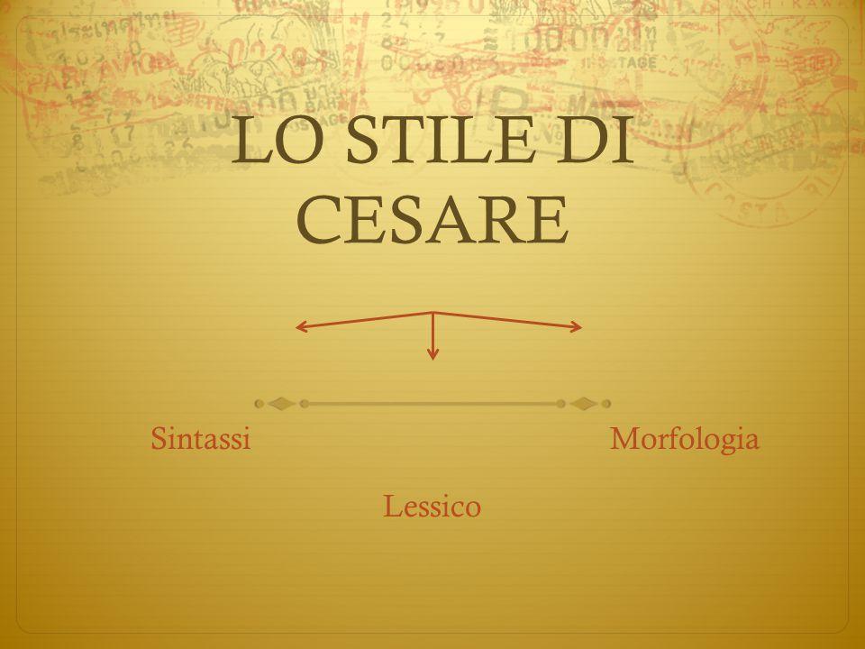 Sintassi Morfologia Lessico