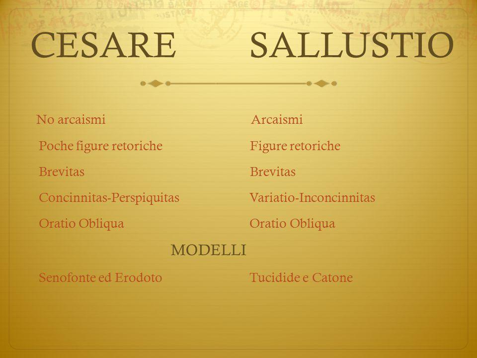CESARE SALLUSTIO Poche figure retoriche Figure retoriche