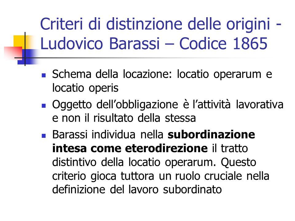 Criteri di distinzione delle origini - Ludovico Barassi – Codice 1865