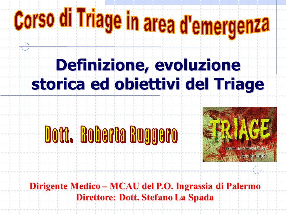 Definizione, evoluzione storica ed obiettivi del Triage