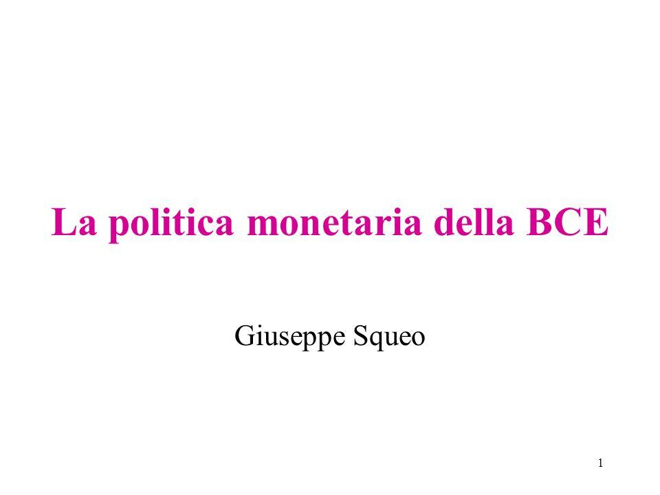 La politica monetaria della BCE