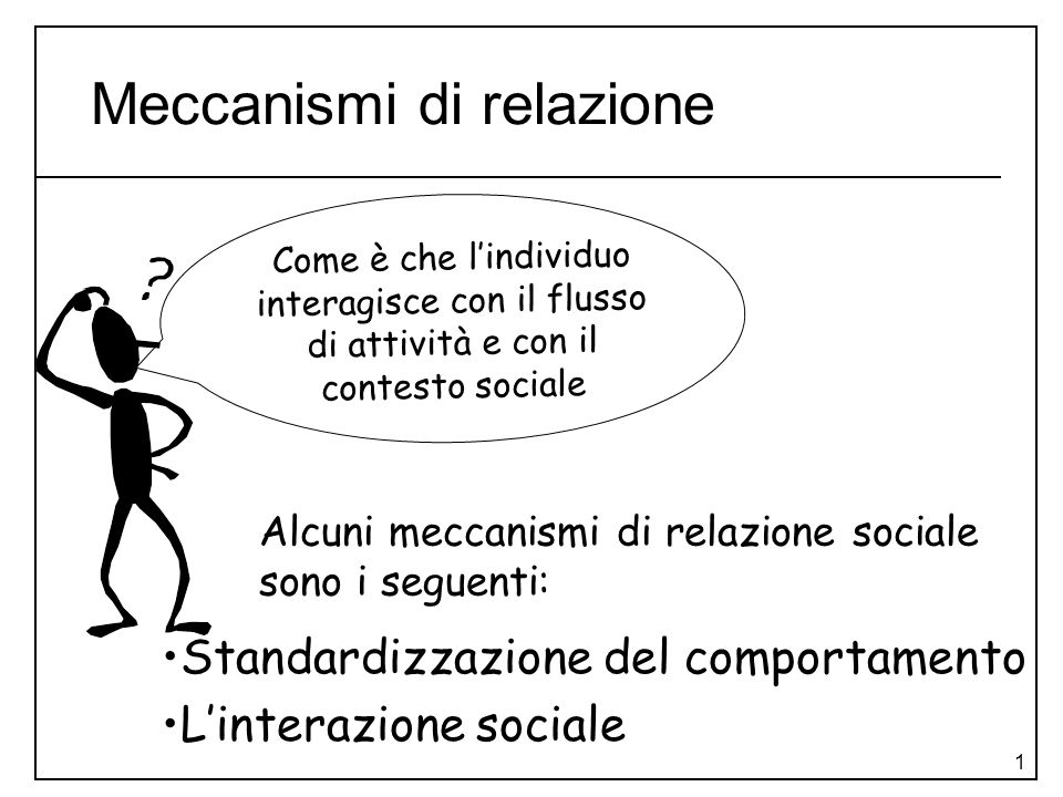 Meccanismi di relazione