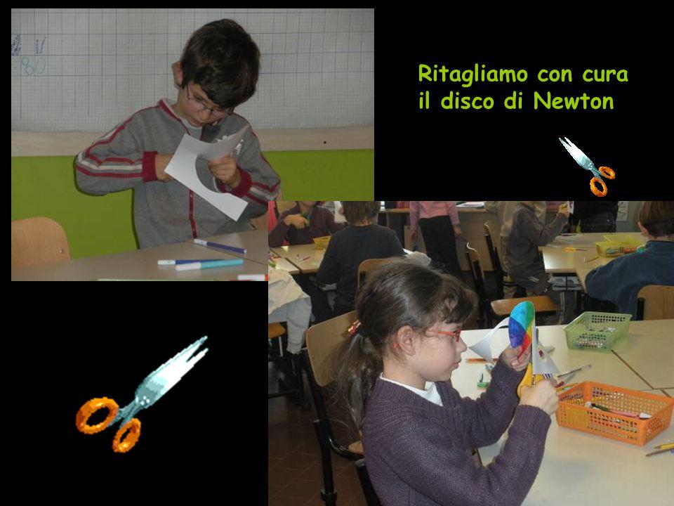 Ritagliamo con cura il disco di Newton