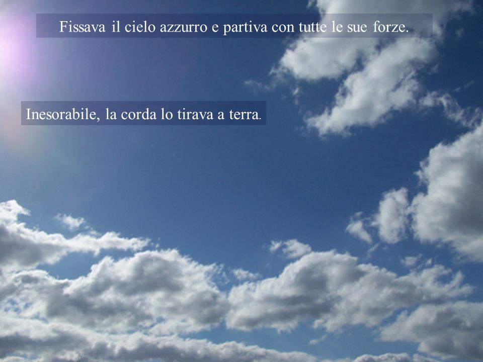 Fissava il cielo azzurro e partiva con tutte le sue forze.