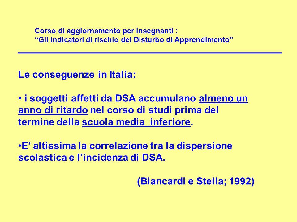 Le conseguenze in Italia: