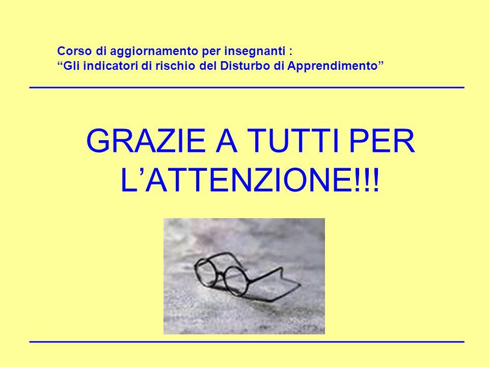 GRAZIE A TUTTI PER L'ATTENZIONE!!!