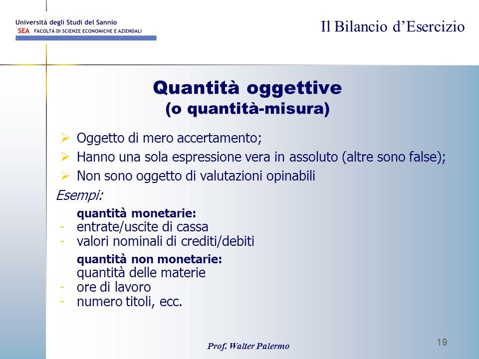 Quantità oggettive (o quantità-misura)
