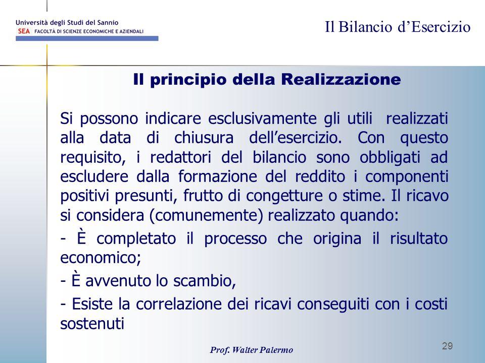 Il principio della Realizzazione