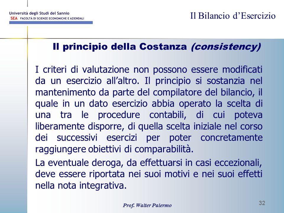 Il principio della Costanza (consistency)