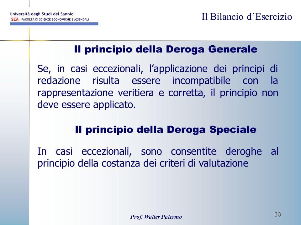 Il principio della Deroga Generale