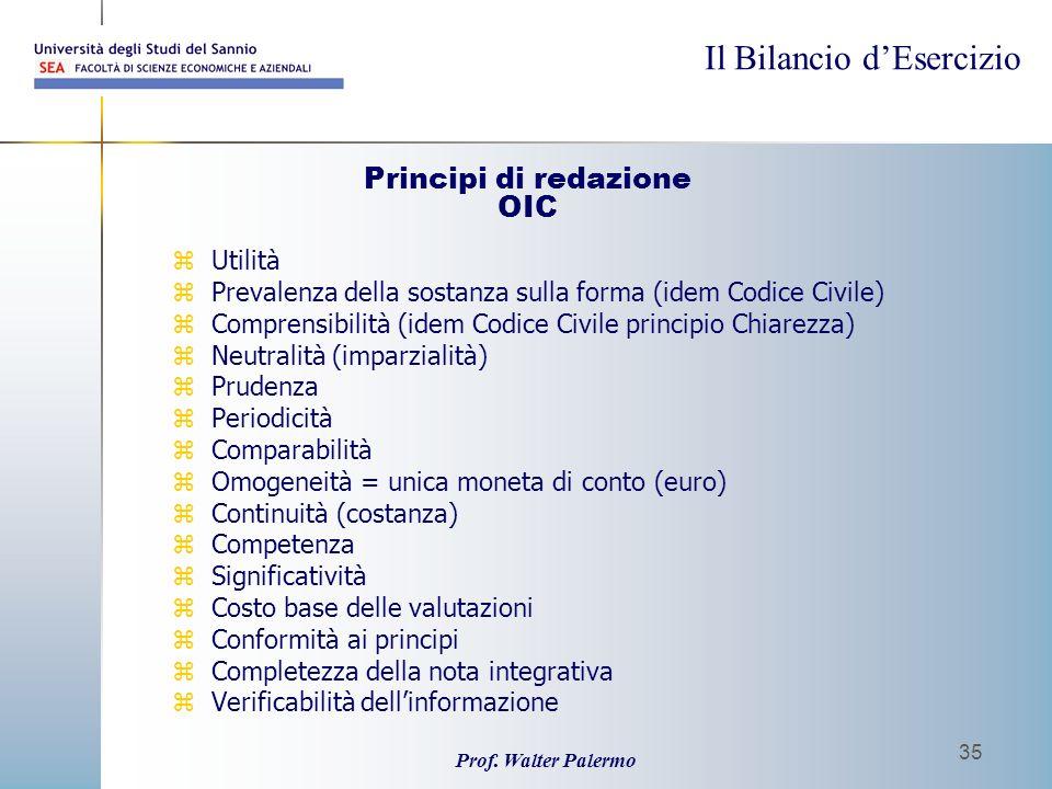Principi di redazione OIC