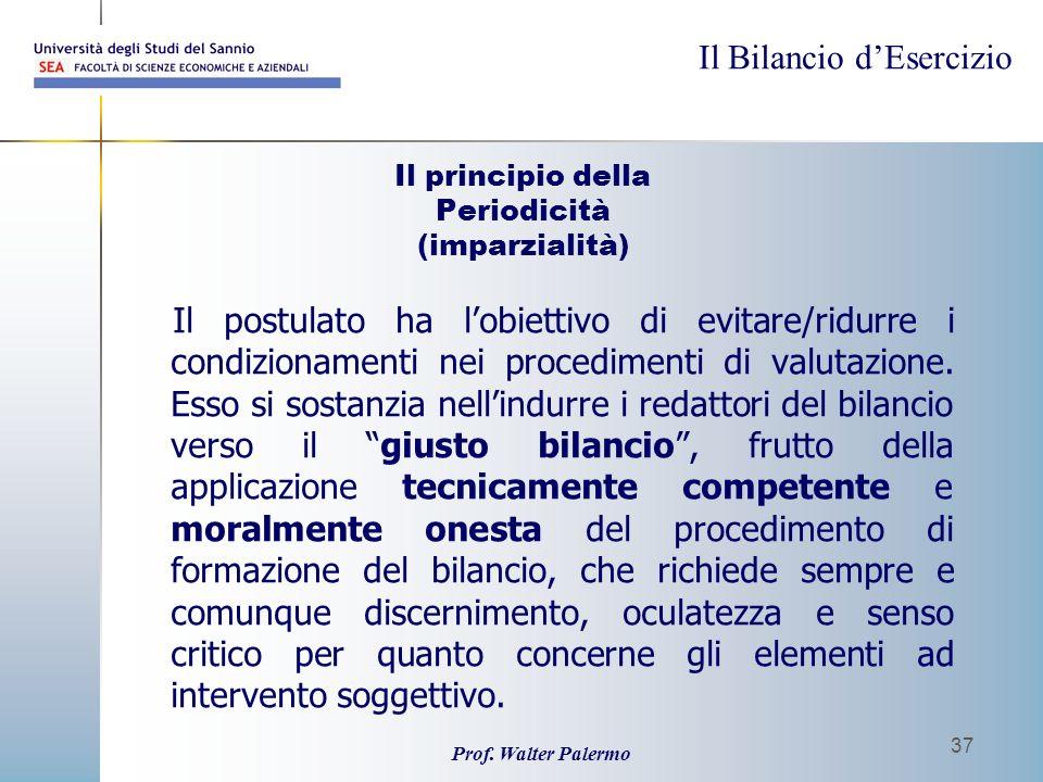 Il principio della Periodicità (imparzialità)