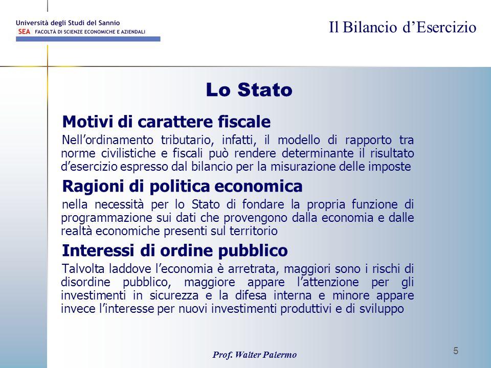 Lo Stato Motivi di carattere fiscale Ragioni di politica economica