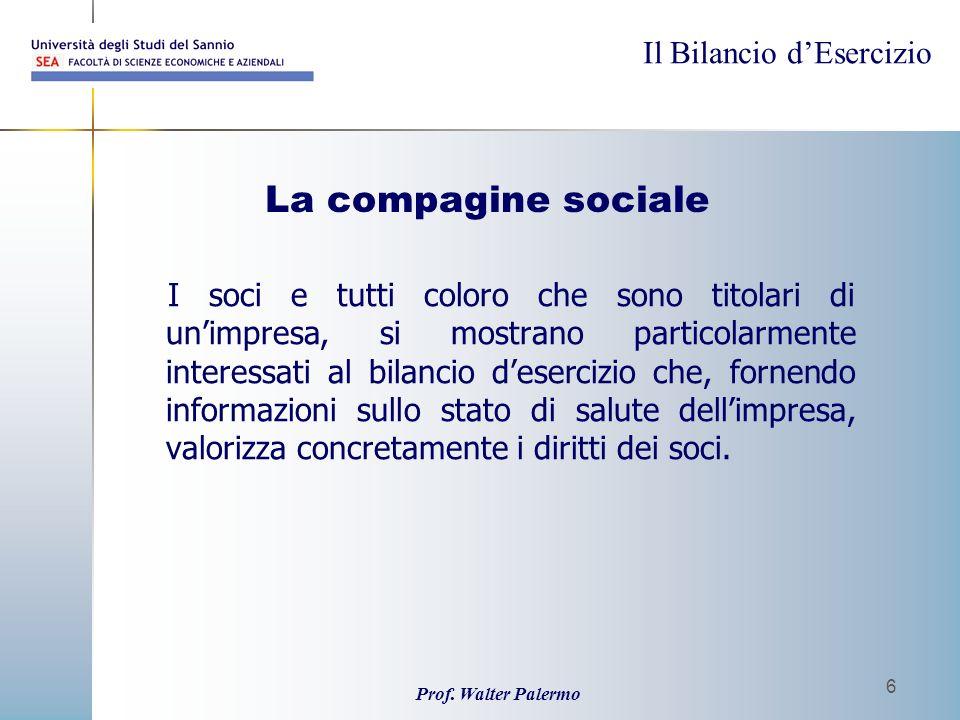 La compagine sociale