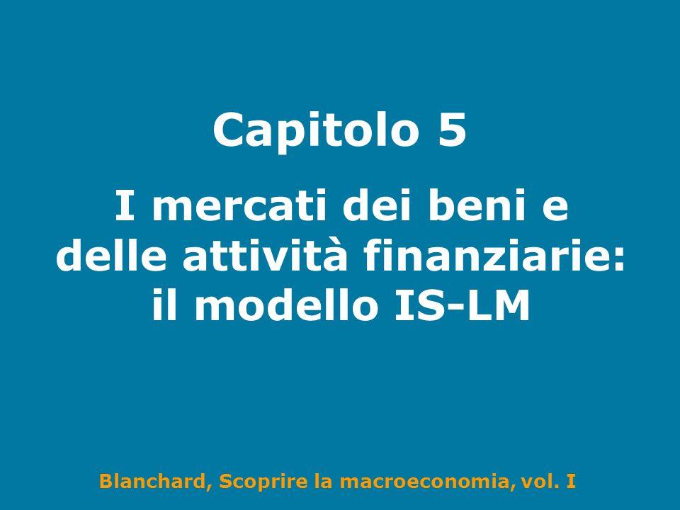 I mercati dei beni e delle attività finanziarie: il modello IS-LM