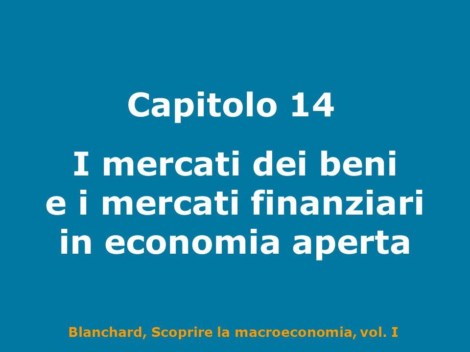 I mercati dei beni e i mercati finanziari in economia aperta