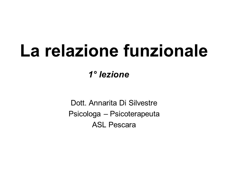 Dott. Annarita Di Silvestre Psicologa – Psicoterapeuta ASL Pescara