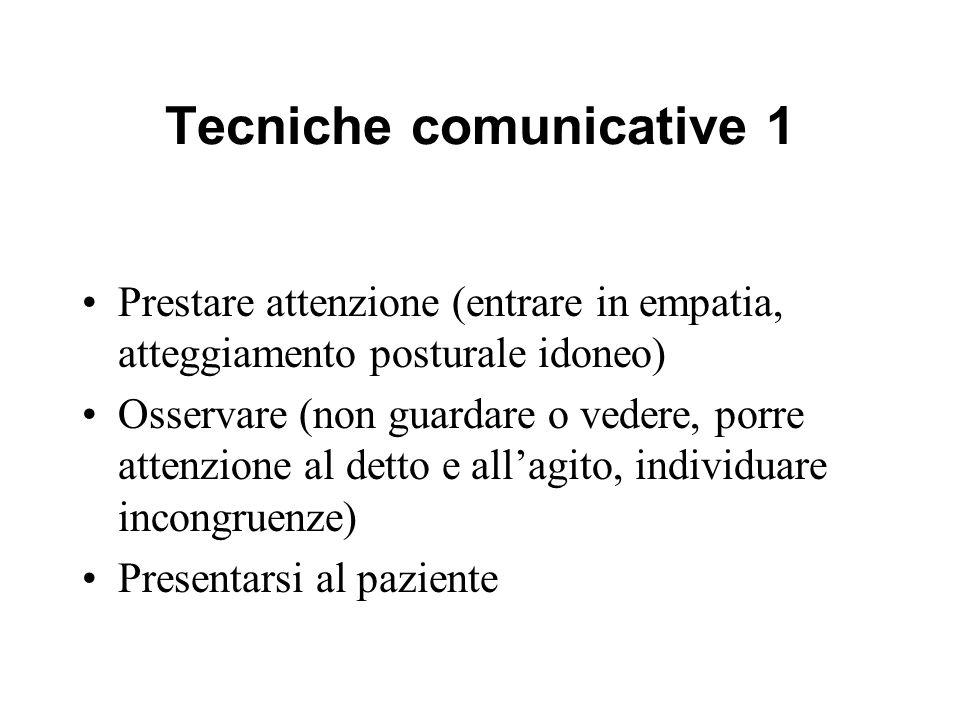 Tecniche comunicative 1