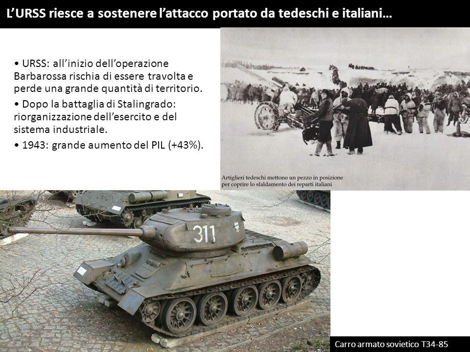L'URSS riesce a sostenere l'attacco portato da tedeschi e italiani…