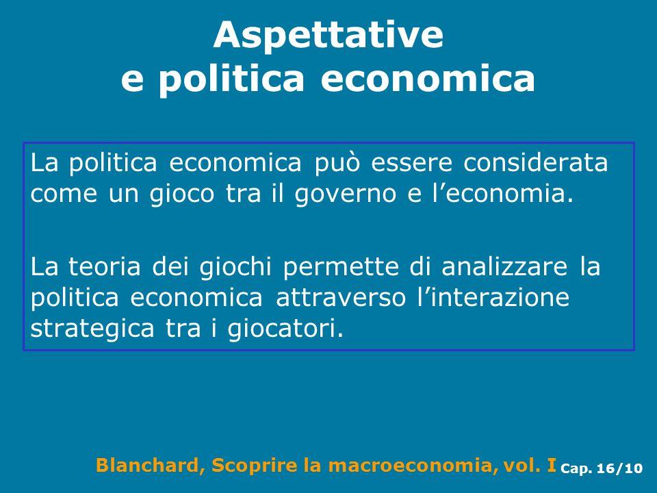 Aspettative e politica economica